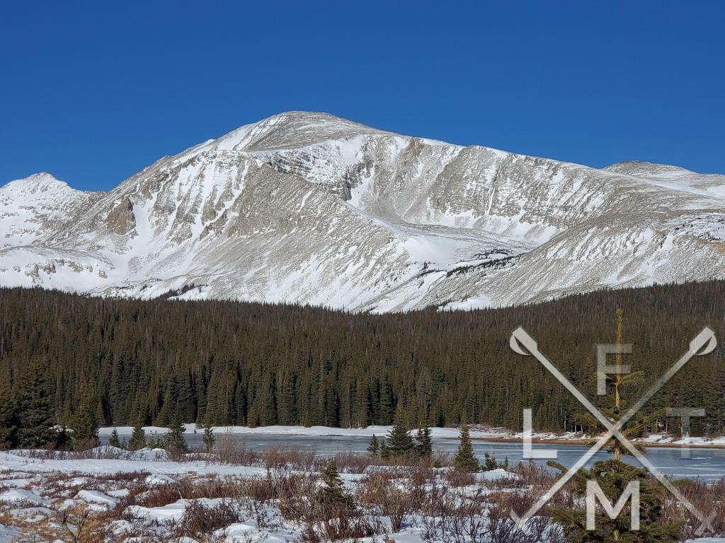 Mt Audubon at Brainard Lake Recreation Area.  This was taken before the ticketing system began.