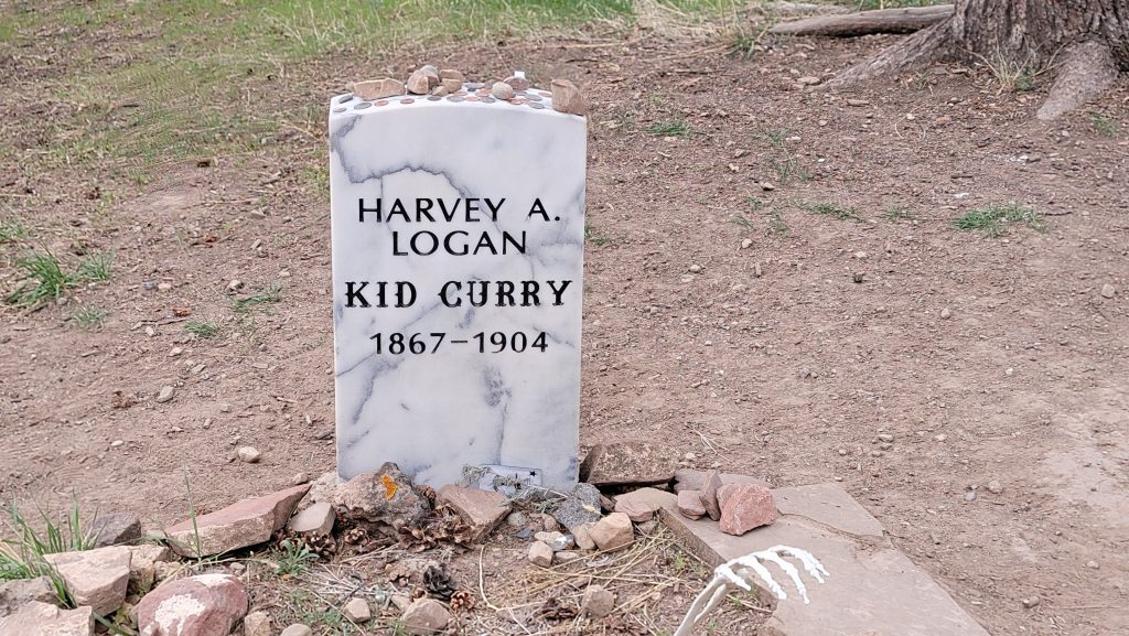 The final resting place of Kid Curry, a famous outlaw from the old west, located close to Doc Holiday's Grave.